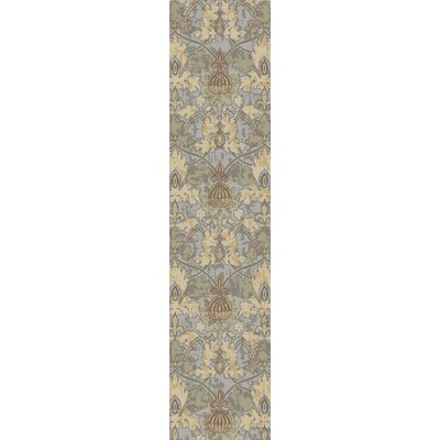 Griffith Blue Area Rug Rug Size: Runner 22 x 711