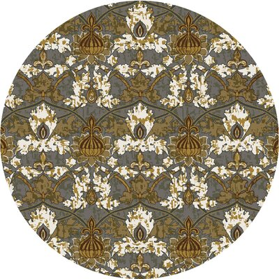 Griffith Blue Area Rug Rug Size: Round 77