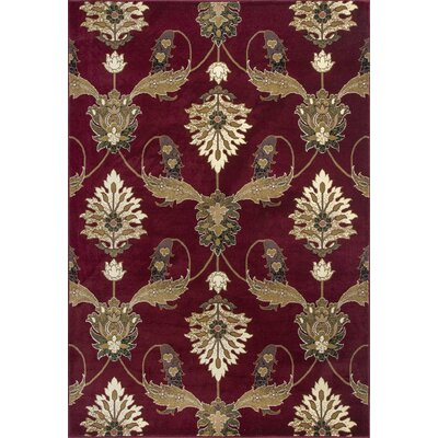Greenfield Red Area Rug Rug Size: Rectangle 18 x 27