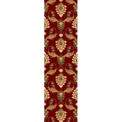 Greenfield Red Area Rug Rug Size: Runner 22 x 711