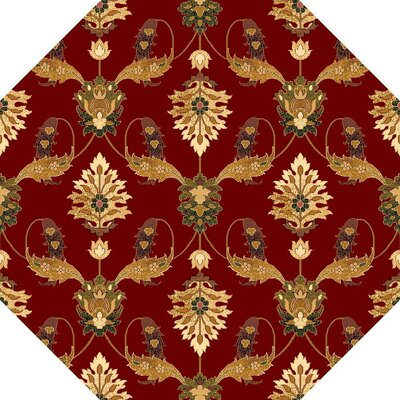 Greenfield Red Area Rug Rug Size: Octagon 77