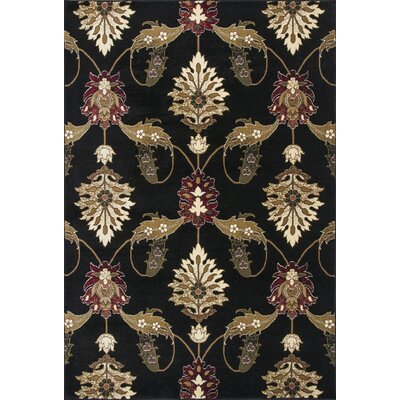 Greenfield Black Area Rug Rug Size: Rectangle 53 x 77