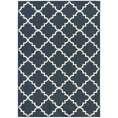 Hanley Navy Area Rug Rug Size: Rectangle 6 x 9