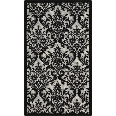 Portleven Black/White Area Rug Rug Size: 5 x 7
