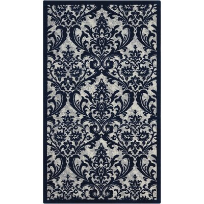 Portleven Navy/White Area Rug Rug Size: 23 x 39