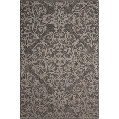 Portleven Gray Area Rug Rug Size: 23 x 39