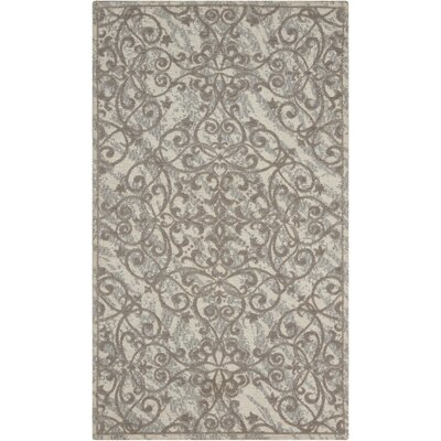 Portleven Gray Area Rug Rug Size: Rectangle 23 x 39