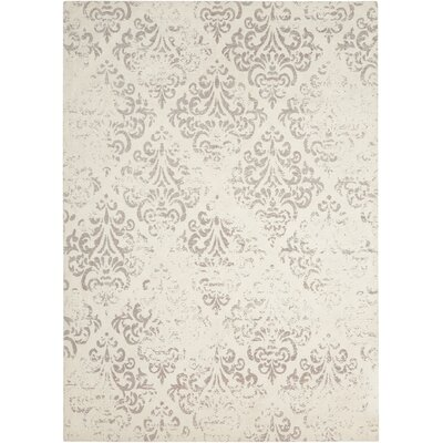 Portleven Ivory/Gray Area Rug Rug Size: Rectangle 8 x 10