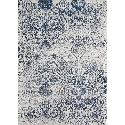 Portleven Ivory/Navy Area Rug Rug Size: 8 x 10