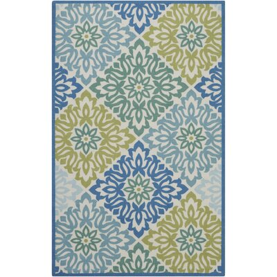 Vernon Blue/Green Indoor/Outdoor Area Rug Rug Size: Rectangle 44 x 611