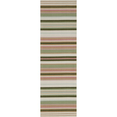 Vernon Green/Red Indoor/Outdoor Area Rug Rug Size: Runner 11 x 6