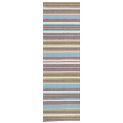Vernon Blue/Brown Indoor/Outdoor Area Rug Rug Size: Runner 11 x 6