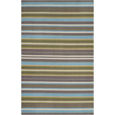 Vernon Blue/Brown Indoor/Outdoor Area Rug Rug Size: Rectangle 44 x 611