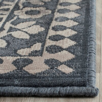 Columbus Blue/Light Gray Area Rug Rug Size: Rectangle 4 x 57