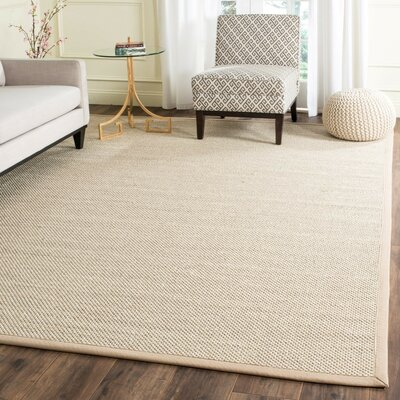 Monadnock Marble / Linen Area Rug Rug Size: Square 6