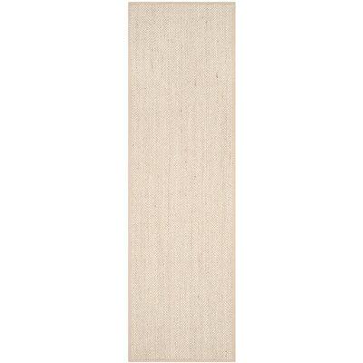 Columbus Marble / Linen Area Rug Rug Size: Runner 2'6