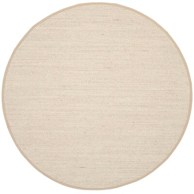Monadnock Marble / Linen Area Rug Rug Size: Round 6