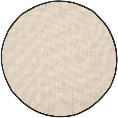 Monadnock Marble / Black Area Rug Rug Size: Round 6