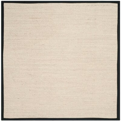 Columbus Marble / Black Area Rug Rug Size: Square 6