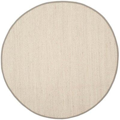 Monadnock Marble/Khaki Area Rug Rug Size: Round 6