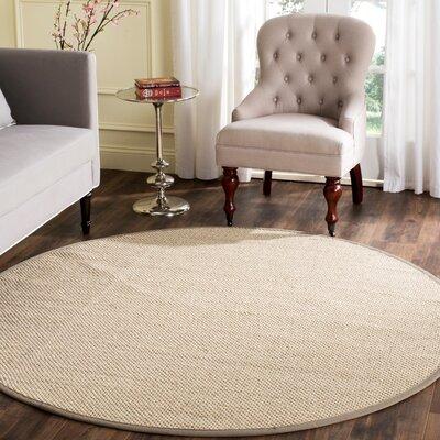 Columbus Marble / Khaki Area Rug Rug Size: Round 6'