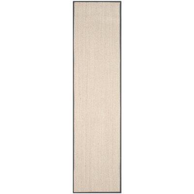 MonadnockBeige/Gray Area Rug Rug Size: Runner 26 x 10