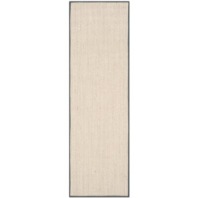 MonadnockBeige/Gray Area Rug Rug Size: Runner 26 x 8