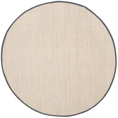 Columbus Beige/Gray Area Rug Rug Size: Round 8'