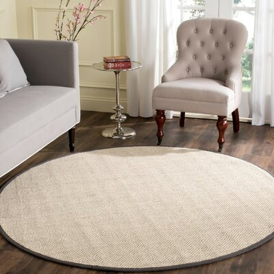 Columbus Beige/Gray Area Rug Rug Size: Round 6'