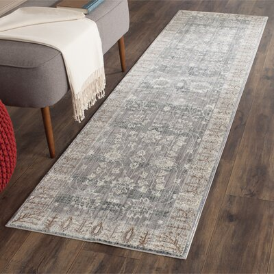 Filton Dark Gray/Light Gray Area Rug Rug Size: Runner 23 x 8