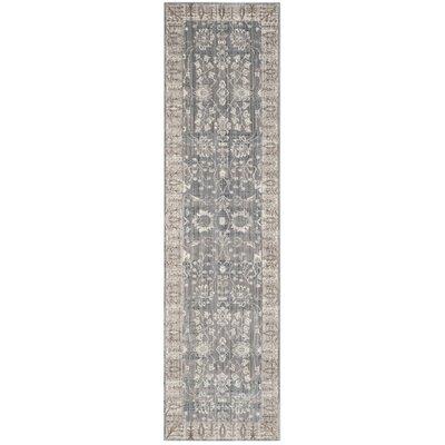 Filton Dark Gray/Light Gray Area Rug Rug Size: Runner 23 x 8