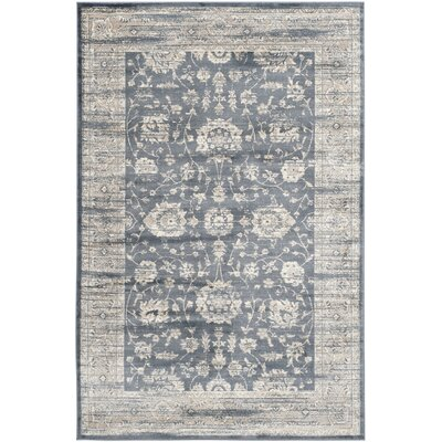 Driffield Dark Grey / Cream Area Rug Rug Size: 5 x 7