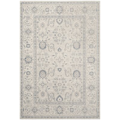 Nielsen Gray/Ivory Area Rug Rug Size: Rectangle 4 x 6