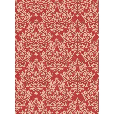 Octavius Red / Creme Indoor / Outdoor Area Rug Rug Size: Rectangle 53 x 77