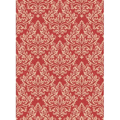 Octavius Red / Creme Indoor / Outdoor Area Rug Rug Size: 53 x 77