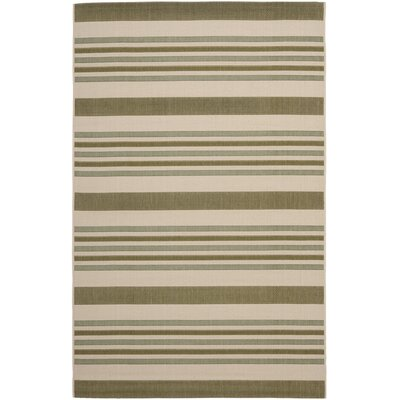 Octavius Beige / Green Indoor / Outdoor Area Rug Rug Size: Rectangle 53 x 77