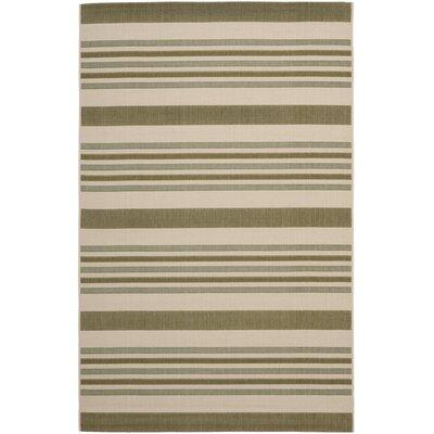 Octavius Beige / Green Indoor / Outdoor Area Rug Rug Size: Rectangle 4 x 57