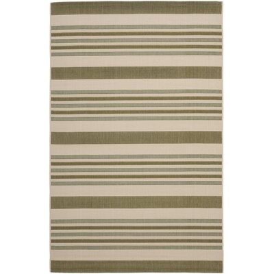 Octavius Beige / Green Indoor / Outdoor Area Rug Rug Size: 53 x 77