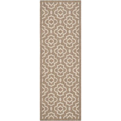 Octavius Brown / Bone Indoor / Outdoor Area Rug Rug Size: Runner 23 x 67