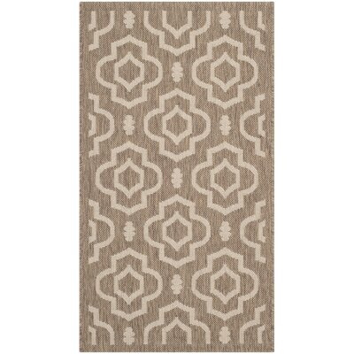 Octavius Brown / Bone Indoor / Outdoor Area Rug Rug Size: 67 x 96