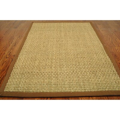 Driffield Hand-Woven Natural/Brown Area Rug Rug Size: Rectangle 4 x 6