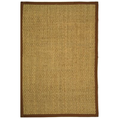Driffield Natural/Brown Area Rug Rug Size: 4' x 6'
