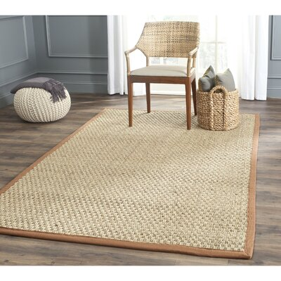 Driffield Natural/Brown Area Rug Rug Size: Square 8