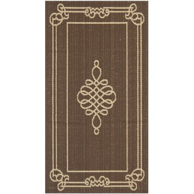 Alderman Chocolate / Cream Indoor / Outdoor Area Rug Rug Size: Rectangle 2 x 37