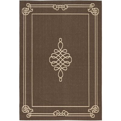 Alderman Chocolate / Cream Indoor / Outdoor Area Rug Rug Size: 67 x 96