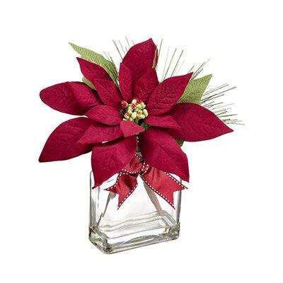 Velvet Poinsettia Arrangement