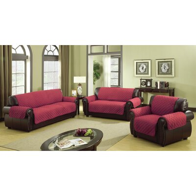 Furniture Protector Box Cushion Sofa Slipcover Size: 114 H x 75 W Sofa, Color: Garnet