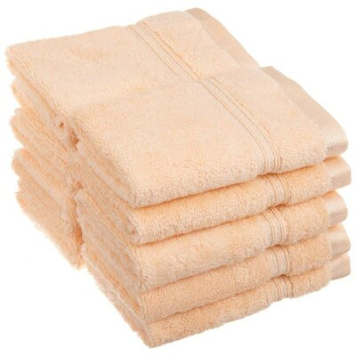 Patric 10 Piece Wash Cloth Set Color: Peach