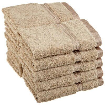 Patric 10 Piece Wash Cloth Set Color: Taupe