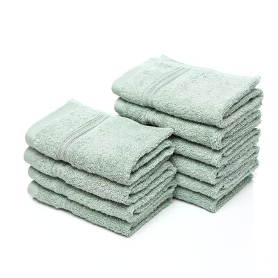 Patric 10 Piece Wash Cloth Set Color: Sage